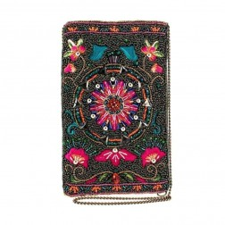 Bag - Valley of the Flower Beaded Cell Phone Bag