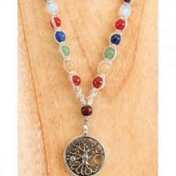 Necklace - Hemp Tree of Life with Chakra Stones
