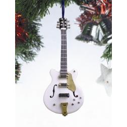 "Ornament - 5"" Electric White Guitar OGC12W"