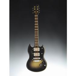 "Magnet - 4"" Dark Grey Electric Guitar w horns"