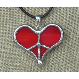 Necklace - Tiffany Peace Heart Red