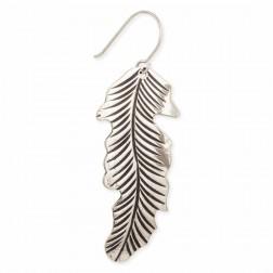 Earrings - Floating Feather Silver Earrings