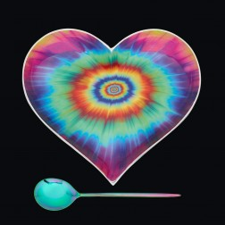 Dish - Large Groovy Heart Dish with Spoon