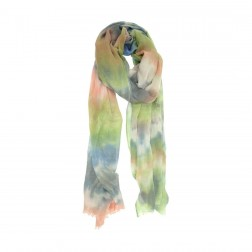 Scarf - Tie Dye Coral & Mint