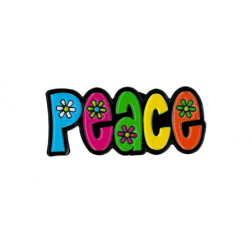 Peace with Daisies Enameled Pin