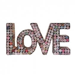 LOVE - Recycled Paper Tabletop Decor