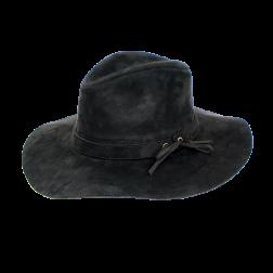 Hat - Black Felt Esmeralda Hat