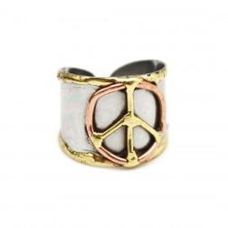 Ring - Mixed Metal Peace Ring