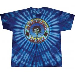 T-Shirt: Grateful Dead Skull Head & Roses, Tie Dye