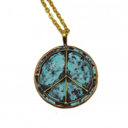 Necklace - Brass and Copper Peace Necklace