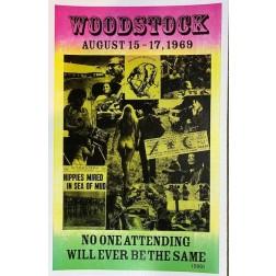 Poster - Woodstock Aug 15-17, 1969 Concert Poster Replica