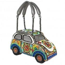 "Bag - ""Drive me Crazy"" VW Bus Beaded Bag"