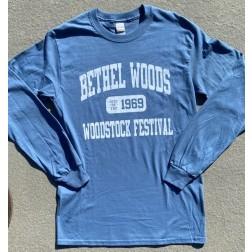 T-shirt, Long Sleeve, Varsity: Indigo blue