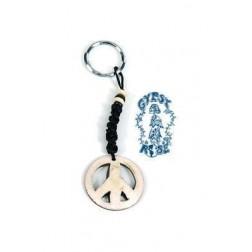 Keychain - Bone Peace Sign Keychain