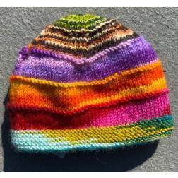 Beanie - Multi Color Rainbow Knit beanie