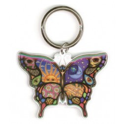 Night and Day Butterfly Keychain