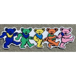 Magnet -- Five dancing bear magnet