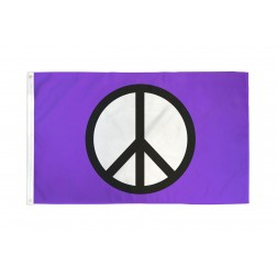 Peace Purple Flag