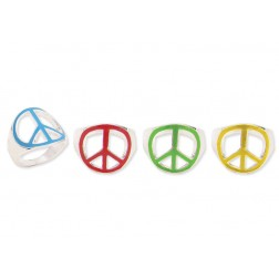 Enamel Peace Sign Ring