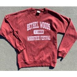 Sweatshirt, Crewneck - BW Garment Washed Varsity Cayenne