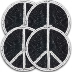 Coaster - Beaded Peace Coaster Set of 4