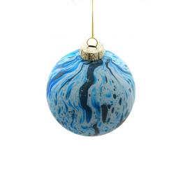 Ornament - Blue Tie Dye Bauble