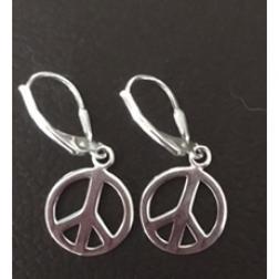 Small Silver Peace Earrings