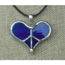 Necklace - Tiffany Peace Heart Ultramarine Blue