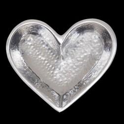 Dish - Mini Hammered Silver Heart Dish