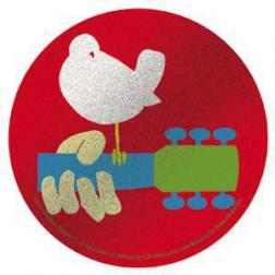 Sticker-Woodstock Glitter Sticker Red