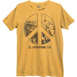 Woodstock Destroyed Crowd in Peace Sign Tee