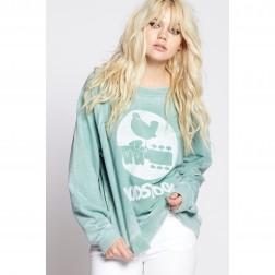 Sweatshirt - Woodstock Symbol Crewneck Sweatshirt Dillweed
