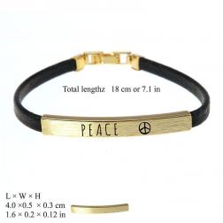 Bracelet - Peace Engraved