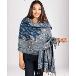 Scarf - Embroidered Heavy Weight Scarf/Wrap