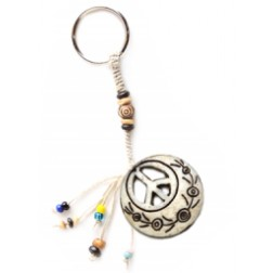 Keychain-Peace Symbol Cut out