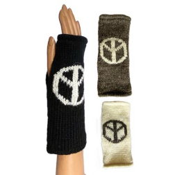 Gloves - Peace Sign Knit
