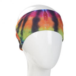 Boho Bandeau - Rainbow and Black Tie Dye