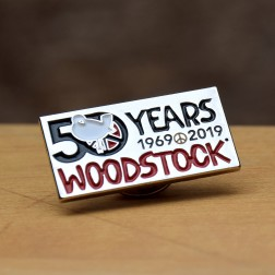 Woodstock Rectangle Lapel PIn