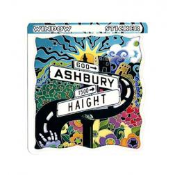 STI - Haight Ashbury Window Sticker