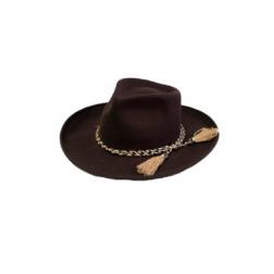 Hat - Colden Brown Fedora w Tassle