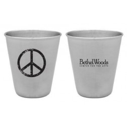 Bethel Woods Peace Sign Stainless Steel Shot Glass