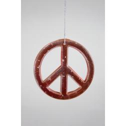 Ornament - Copper Peace Sign