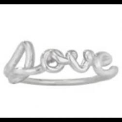 "Ring - ""LOVE"" Sterling Silver Script Ring"