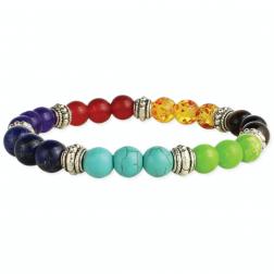Bracelet - Mixed Chakra Stone Bead Stretch Bracelet
