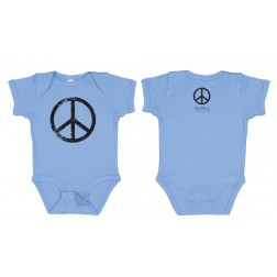 Onesie - Peace Sign, Carolina Blue