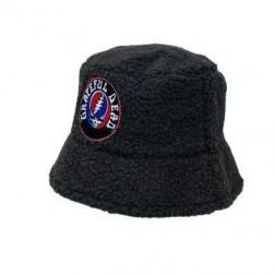 "Bucket Hat - ""Stealie"" Black Bucket Hat Grateful Dead"