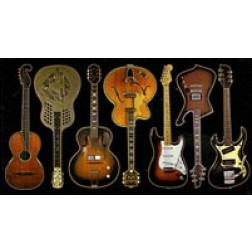 Assorted Guitars Sticker