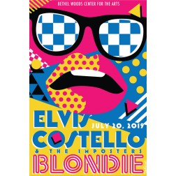 Elvis Costello and Blondie Concert Poster