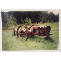 Postcard Tractor on the Field