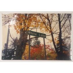 Postcard White Lake Sign